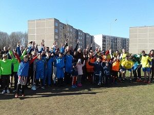 """Tauragės """" Šaltinėlis"""" globos namai dalyvavo, gatvės futbolo turnyre."""