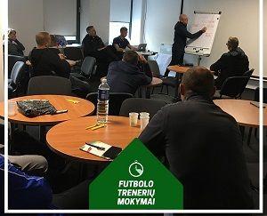 Tauragėje vyko futbolo vartininkų trenerių mokymų 3-asis modulis